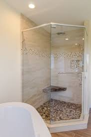 best 25 corner shower doors ideas on pinterest corner showers shower ideas large custom tile shower with large tile walls with small glass tiel accent
