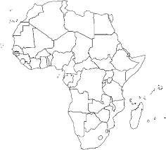 africa map black and white countries a bicycle ride across africa