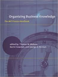 organizing business knowledge the mit process handbook mit press