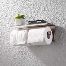 How To Hang Toilet Paper by Kes Dual Toilet Paper Holder Rustproof Stainless Steel Bathroom
