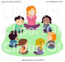 clipart of a and children praying outdoors royalty free
