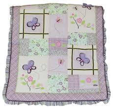 belle baby 8 piece crib bedding set purple floral theme