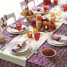 make a stenciled table runner thanksgiving table and thanksgiving