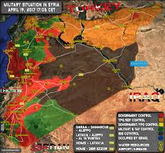 Damascus Syria Map Situation In Syria On April 19 2017 Map Update