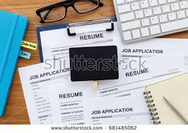 Resume And Resume Resume Job Application On Work Desk Stock Photo 685042807