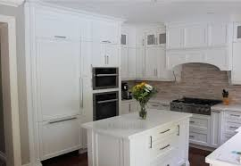 custom kitchen cabinets markham transitional modern u shape kitchen featuring all white