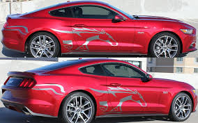 decals for ford mustang steed side vinyl decal kit for 2015 2016 2017 mustang pfyc