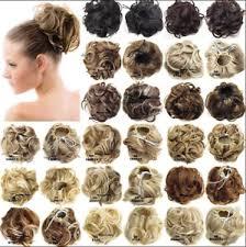 bun scrunchie hair extensions wavy curly synthetic hair bun wig hairpiece clip