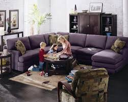 Lazy Boy Living Rooms by Confortable Purple 5 Piece Lazy Boy Sectional Sofa With Corner