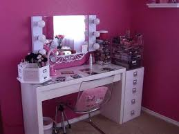Pink Vanity Table Vanity Table With Lighted Mirror Utrails Home Design The