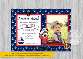 mickey mouse printable birthday invitations printed or digital mickey mouse sailor birthday invitations
