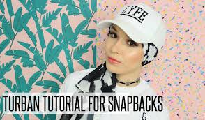 tutorial hijab nabiilabee turban tutorial for snapbacks caps nabiilabee youtube