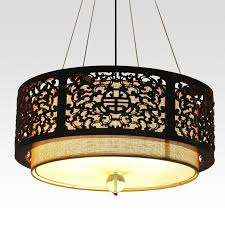 Large Pendant Lights Discount Modern Chinese Style Wood Carving Large Pendant Light