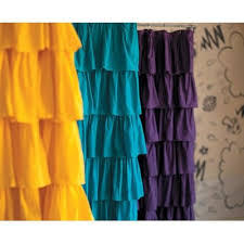 Ruffled Shower Curtain Ruffled Shower Curtains Shower Curtains Outlet