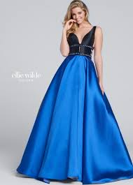 mikado full a line prom gown with pockets ew117144