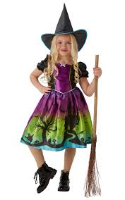 witch girls fancy dress childrens halloween book day witches kids