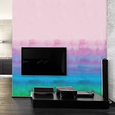 rainbow watercolour self adhesive wallpaper by oakdene designs