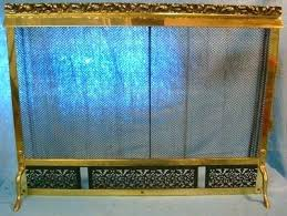 Fireplace Chain Screens - fireplace mesh screen purpose curtain rod kit vintage art brass