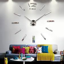 mirror home decor luxury diy 3d horloge murale home decor bell cool mirror stickers