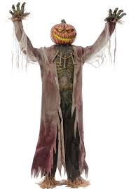 scarecrow halloween mask huge 7ft tall corn stalker scarecrow animated prop mad about horror
