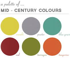 modern color scheme a mid century palette nice combos with grey googie mid century