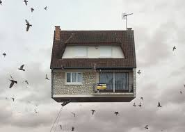 pictures of houses flying houses by laurent chéhère