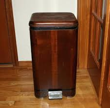 Kitchen Island With Trash Bin Black Wheeled Trash Can With Lid Narrow Under Sink Pull Out Trash