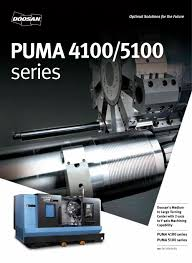 puma 4100 5100 series doosan machine tools pdf catalogue