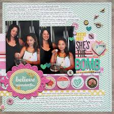 wedding scrapbook page she s the bomb file scrapbook layout composition the