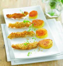 cuisiner de la sole goujonnettes de sole au sésame et pommes de terre palets d or