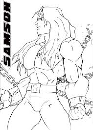samson coloring page free coloring pages on art coloring pages