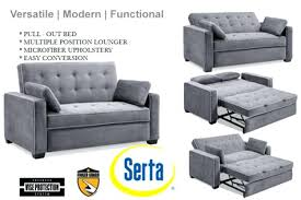 Grey Sofa Sleeper Microfiber Sofa Bed Brunofelixarts