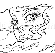 abstract face drawing lesson step 8 art pinterest