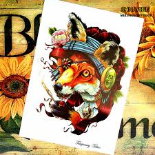 tattoo home decor wolf grandmother temporary tattoo body art flash tattoo stickers