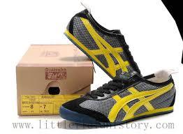 asics onitsuka tiger mexico 66 shoes black yellow