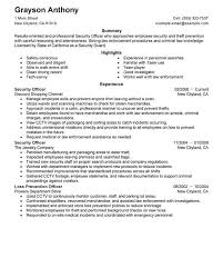 Information Security Resume Examples by Intricate Security Resume 4 Unforgettable Security Officers Resume