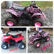 little u0027s 50cc atv customized with hydrographics muddy