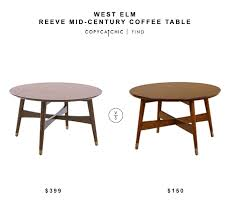 Overstock Round Coffee Table - daily find west elm reeve mid century coffee table copycatchic