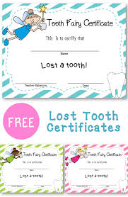 lost tooth certificate free printable certificates printable