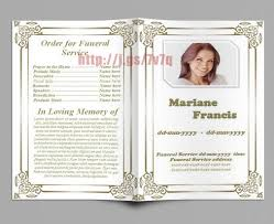 fill in memorial funeral program template the inside page is