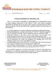 Mep Mechanical Engineer Resume Work Experience Certificate 1