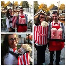 Popcorn Halloween Costume Dollar Store Crafter Baby Carrier Movie Popcorn Costume