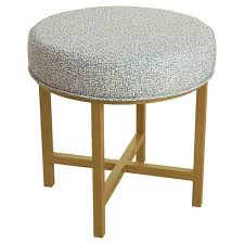 Circle Ottomans Circle Ottoman With Gold Metal X Base Homepop Target