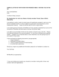 Letter Visa Application Exle Invitation Letter For Uk Visa Gallery Invitation Sle And