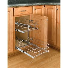 shop rev a shelf 8 75 in w x 19 in h metal 2 tier cabinet basket