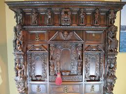 bambocci inspired 19th century walnut humidor liquor cabinet on