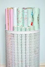 diy ribbon and wrapping paper storage really wish i had this