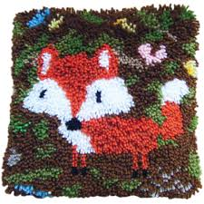 fox latch hook kit 30cm hobbycraft