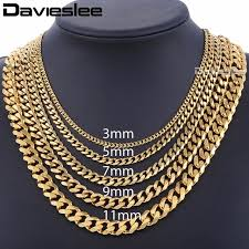 black gold necklace jewelry images Mens necklaces chains stainless steel silver black gold necklace jpg
