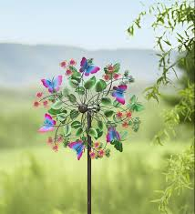 butterfly garden wind spinner bring the beauty of butterflies to